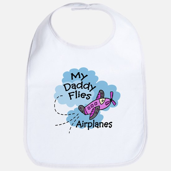 My Daddy Flies Airplanes Pink Baby/Toddler Bib