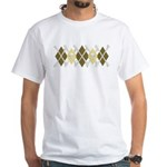 Argyle Jolly Roger, Coffee Colors White T-shirt