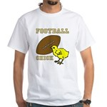 Football Chick Sports Fan White T-shirt