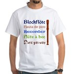 Multilingual Recorder White T-shirt