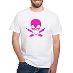 Lightning Bolt Jolly Roger White T-shirt