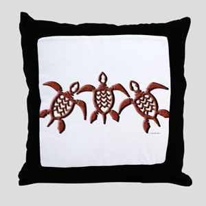 Trible Turtles Throw Pillow