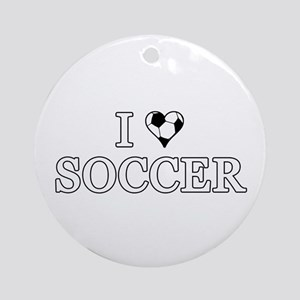 I Love Soccer Ornament (Round)