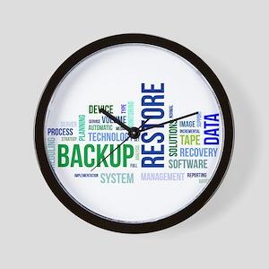 word cloud - backup restore Wall Clock