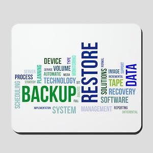 word cloud - backup restore Mousepad