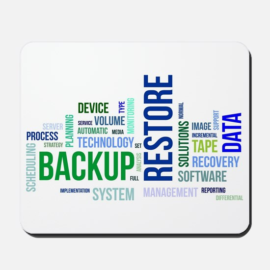 word cloud - backup restore Mousepad
