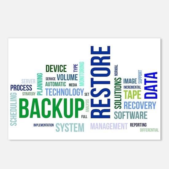 word cloud - backup resto Postcards (Package of 8)