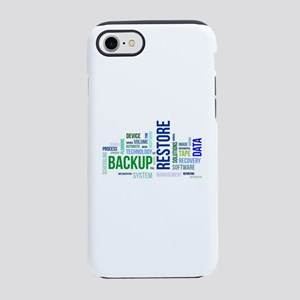 word cloud - backup restore iPhone 7 Tough Case