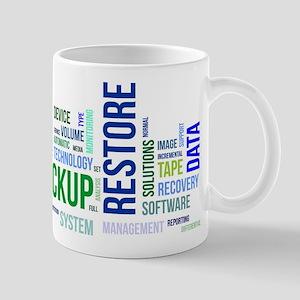 word cloud - backup restore Mugs
