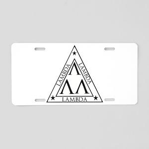 LAMBDA FRATERNITY Aluminum License Plate