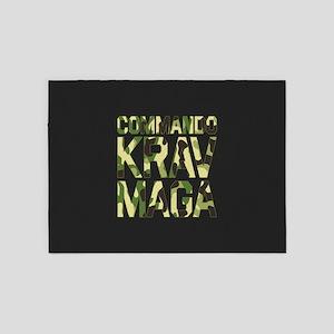 Commando Krav Maga - Green Camouflage 5'x7'Area Ru