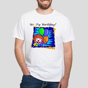 Bright Clown Birthday White T-shirt