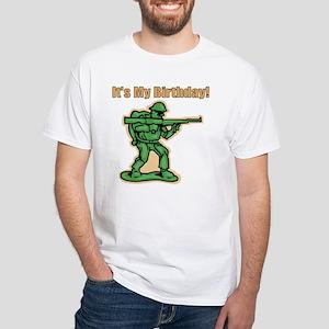 Green Army Men Birthday White T-shirt