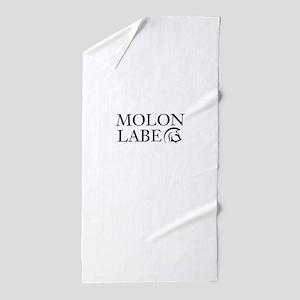 molon labe Beach Towel