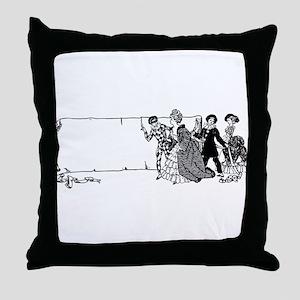 vintage masquerade party Throw Pillow