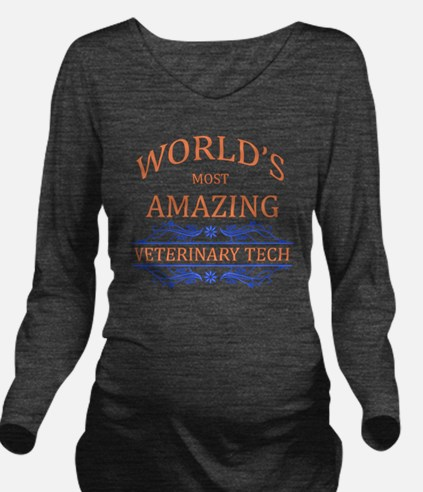 Veterinary Tech Long Sleeve Maternity T-Shirt