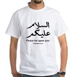 Peace be upon you Arabic White T-shirt