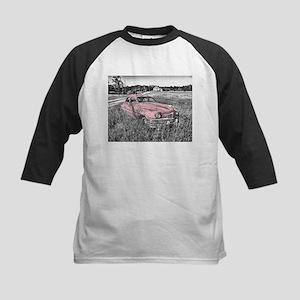 vintage pink car Baseball Jersey