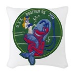 USS DOGFISH Woven Throw Pillow
