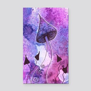 Purple Mushrooms Rectangle Car Magnet