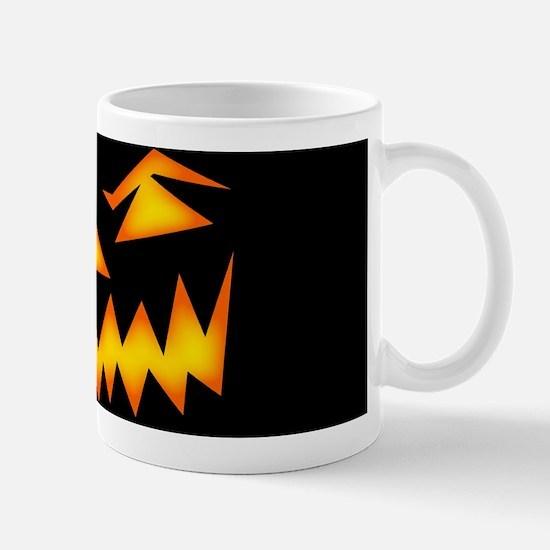 Scary Pumpkin Face D Mugs