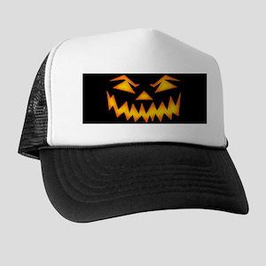 Scary Pumpkin Face D Trucker Hat