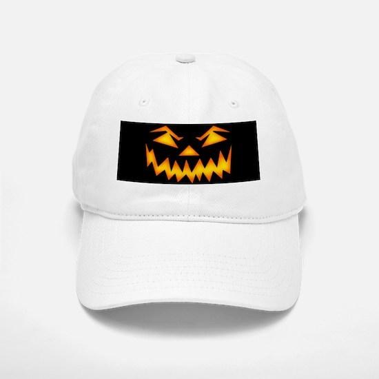 Scary Pumpkin Face D Baseball Baseball Baseball Cap