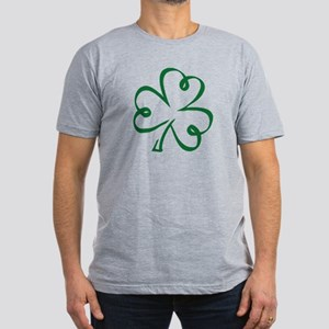 Shamrock clover Men's Fitted T-Shirt (dark)
