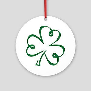 Shamrock clover Ornament (Round)