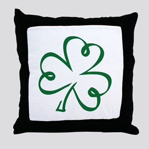 Shamrock clover Throw Pillow