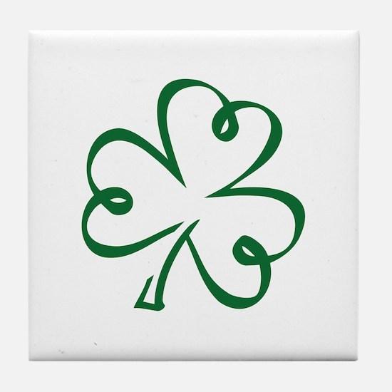 Shamrock clover Tile Coaster