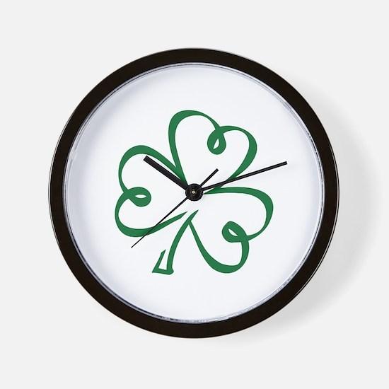 Shamrock clover Wall Clock