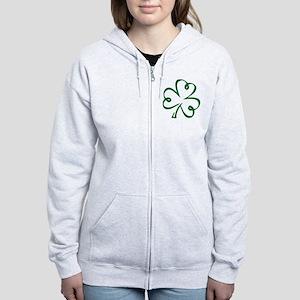 Shamrock clover Women's Zip Hoodie