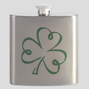 Shamrock clover Flask