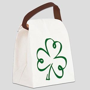 Shamrock clover Canvas Lunch Bag