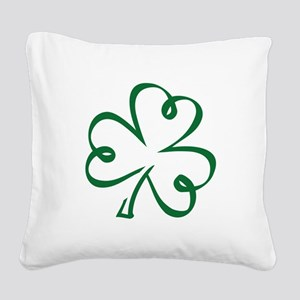 Shamrock clover Square Canvas Pillow