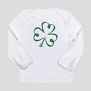 Shamrock clover Long Sleeve Infant T-Shirt