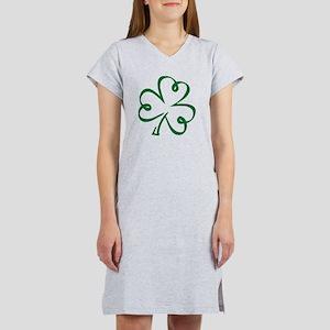 Shamrock clover Women's Nightshirt
