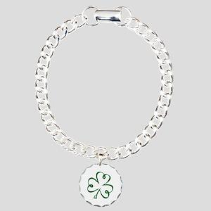 Shamrock clover Charm Bracelet, One Charm
