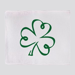 Shamrock clover Throw Blanket