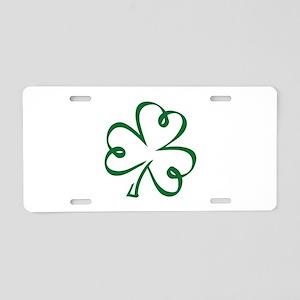 Shamrock clover Aluminum License Plate