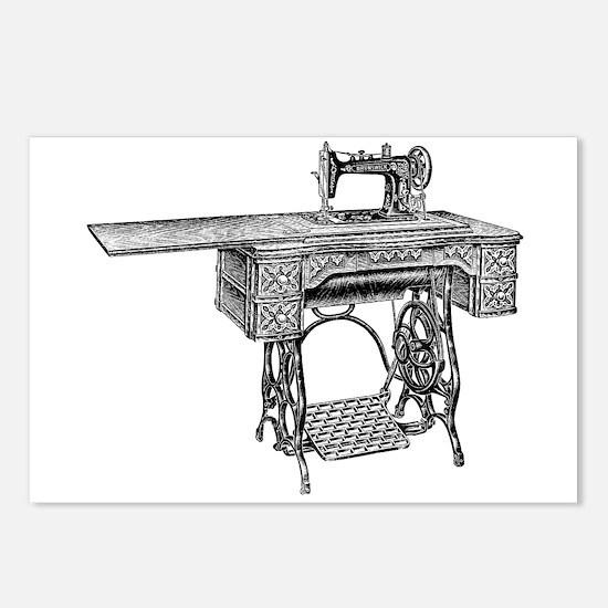 vintage sewing machine Postcards (Package of 8)