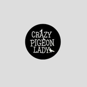 Crazy Pigeon Lady Mini Button