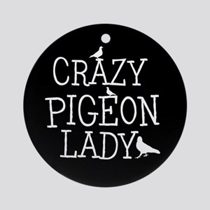 Crazy Pigeon Lady Ornament (Round)