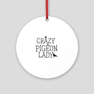 Crazy Pigeon Lady Ornament (Round)