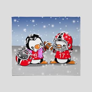 Football Penguins Throw Blanket