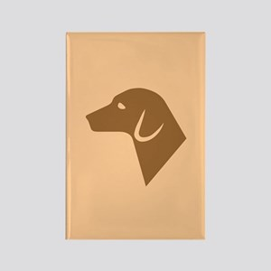 Dog Silhouette Rectangle Magnet