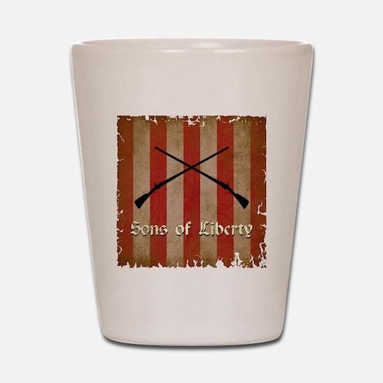 Sons of Liberty Flag Shot Glass