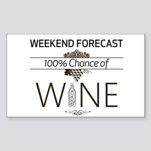 Weekend Forecast Sticker (Rectangle)