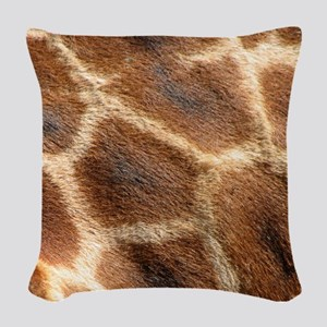 Giraffepattern Woven Throw Pillow